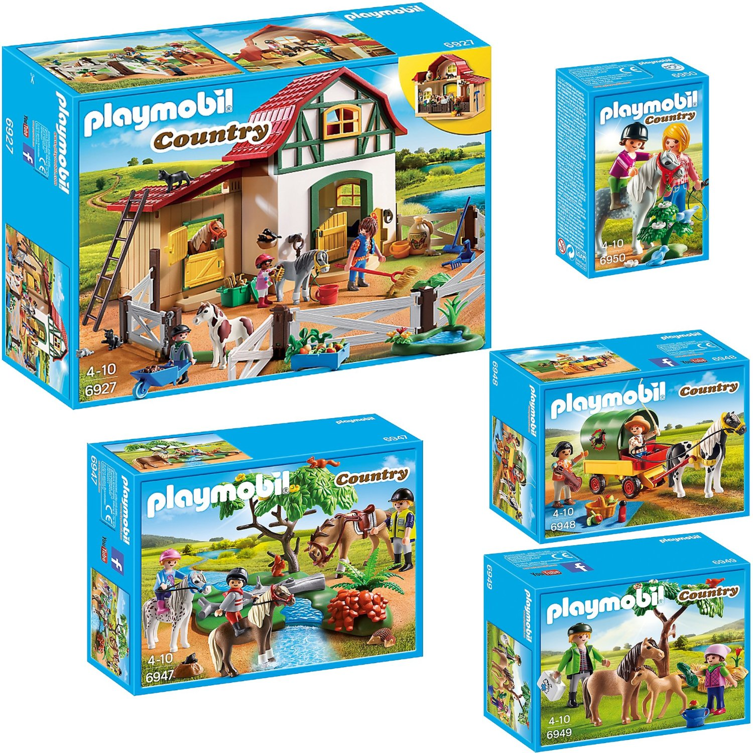 Smuk Διάφορα Προϊόντα : Playmobil Country μεγάλο σετ 6927 6947 6948 IN-13